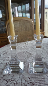 Crystal  Tiffany Candle Holders