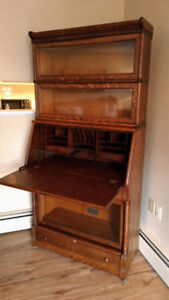 RARE Sectional Barrister Bookcase Desk combo by Macey