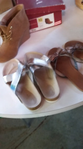 3 pairs sandles and heal shoes sz 10