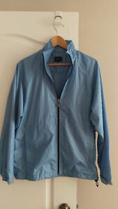 NEW Bossini Men's Light Blue Waterproof Light Jacket MEDIUM $15