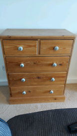 Solid Pine Dovetail Chest of Drawers