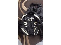 Alpinestar leather jacket and leather trouser.