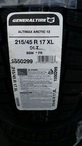 4 BRAND NEW WINTER TIRES GENERAL ALTIMAX ARCTIC 12 215/45/R17