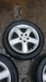 Mercedes b class 16 inch alloy wheel set