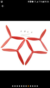 2 X  set d'hélices triple Drone propellers. (Racing propellers)