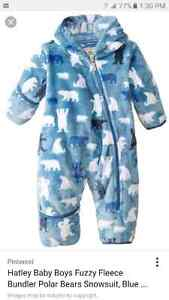 Hatley fleece winter one piece size 3-6