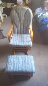 Easy Glide Rocking Chair And Footstool