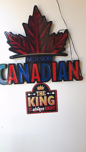 ~~~ MOLSON CANADIAN LIGHT UP BAR SIGN~~~