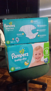 PAMPERS Baby Dry Size 6 for Swap with 9-12-18M Girl Clothings