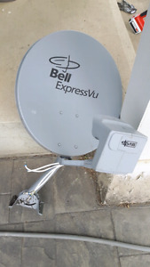 Two Satellite Dish's Bell lnb switch