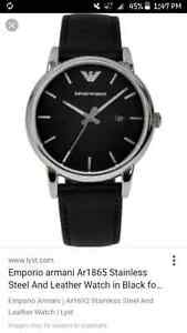 Emporio armani solid stainless steel watch