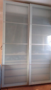 Ikea frosted glass door panels for Ikea Pax wardrobes