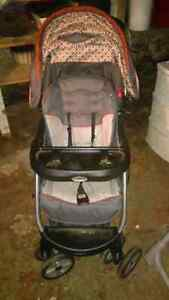 Baby stroller with car set and a high chair Cambridge Kitchener Area image 1
