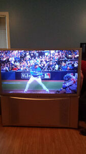 "60"" Hitachi PIP HD rear projection TV"
