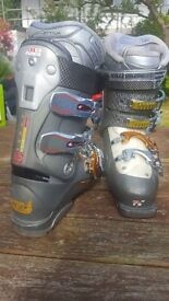 Salomon grey and silver ski boots
