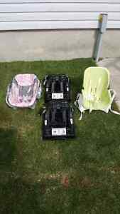 Car seat with 2 bases and chair