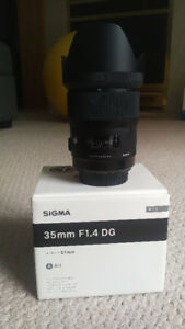 SIGMA ART 35 MM 1.4 FOR CANON