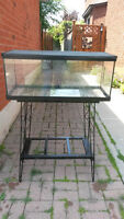 Aquarium Reptile/fish Tank Complete with Wrought Iron Stand