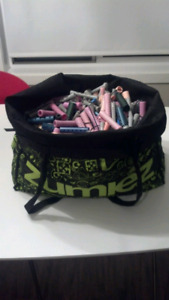 Big bag of curlers & perm rods