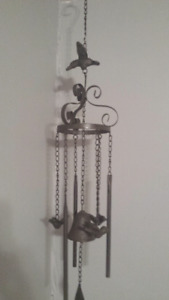 Brand New - Large Cast Iron Birds and Bells Wind Chimes