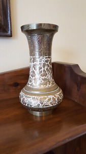 Brass vase. Made in British India..7 inches high