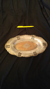 silver plated serveing tray
