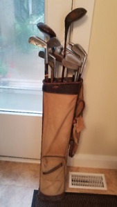 Vintage Woman's Golf Bag and Clubs