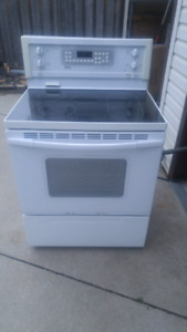 Stove, Electric Convection, white, Ceran top