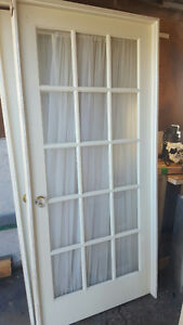 36 inch  door interior glass with jamb and handle
