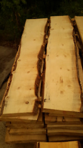 Pine Slabs Live Edge Both Sides for Home Reno Bars & Countertop