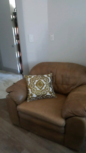Leather armchair, extra large size, very comfortable