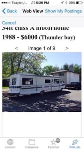 34 ft motor home for sale