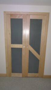 Door - 19(w) x 70, Cabinet Door, Double, Natural Birch, Glass