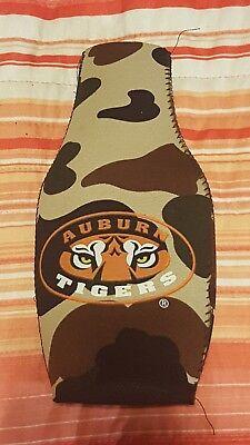 AUBURN TIGERS  NEOPRENE BOTTLE ZIPPER BEER COOLER KOOZIE INSULATION Auburn Tigers Insulated Bottle