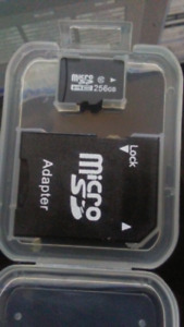 256GB micro sd with sd adapter brandnew