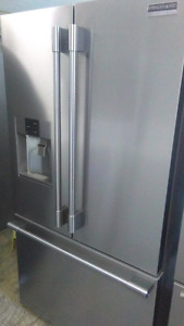 2016 fridge stainless steal french door