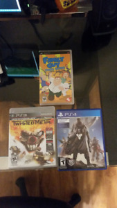 PSP, PS3, PS4 games