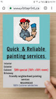 Friendly neighborhood Painting services.