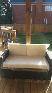 4 pc rattan patio set