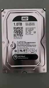 Western Digital Black 1 TB Hard Drive, SATA III, 64 MB Cache