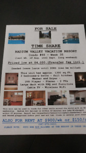 RADIUM TIMESHARE FOR SALE OR RENT