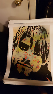 Kurt Cobain Nirvana Eye Original Art on 18x24 Paper by LeBach