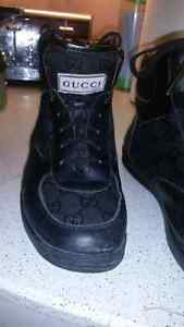 Gucci Black hightop Mens Shoes Size 11