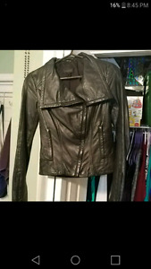 Danier leather jacket new size 3xs