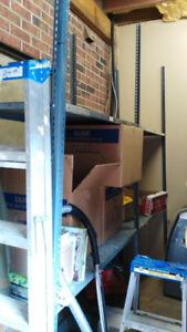 Industrial Metal shelves/posts