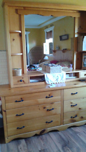 Beautiful Handmade Pine Bedroom Set