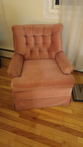 Pink Rocking/Swivel Chair. $25 OBO