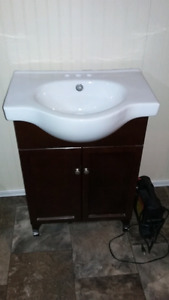 Sink & Vanity plus over the toilet storage