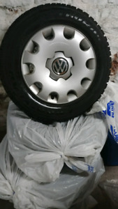 Winter tires, rims, and hubcaps Golf Jetta Corolla