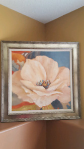 Large framed canvas painting